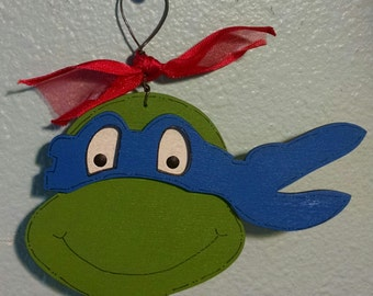 Leonardo Blue Ninja Turtle Christmas Ornament