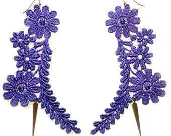 SALE- MIND GARDEN Lace Earrings in Lavender
