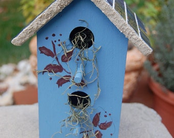 Hand Painted Tiled Birdhouse