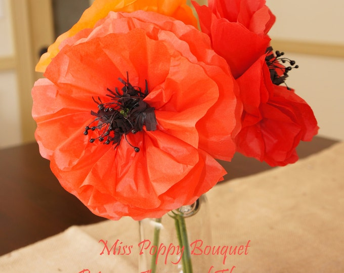 Miss Poppy Bouquet Set of Three