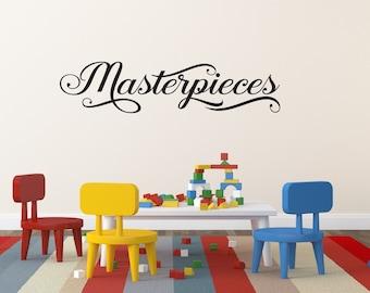 Masterpieces Wall Decal - Playroom Wall Art - Childrens Decor - Masterpieces Vinyl Wall Decal - Vinyl Lettering