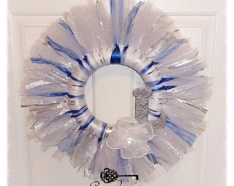 "10"" Custom Designed Fabric Strip Wreath"