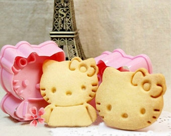 Hello Kitty Cookie Cutter Mold Set - 2 pc set