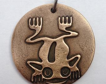 Pendant Bronze - Frog (H189)