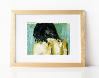 Cleanse. Figure Painting Art Print, Giclee Art Print, Water, Acrylic, wall art