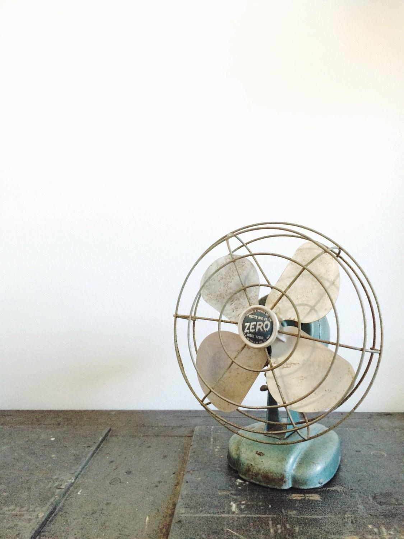vintage small green industrial fan retro fan desk fan. Black Bedroom Furniture Sets. Home Design Ideas