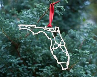 Florida Highway Christmas Ornament