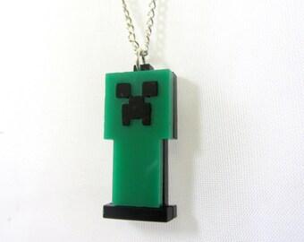Minecraft creeper necklace