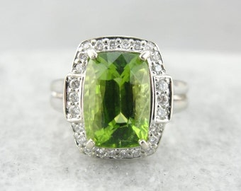 Contemporary And Bold Peridot Cocktail Ring DQ3U09-D
