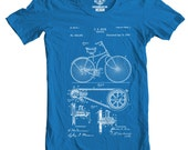 Bicycle Patent T-shirt, Printed in USA, Available S-2XL