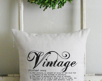 Vintage Definition 20 x 20 Pillow Cover_home decor, cushion, throw pillow, gift, present_