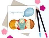 Greeting Card | It's a Boy | Birthday | Boy Birth | Custom Birth Card | Personalized Birth Card | Congratulation Card