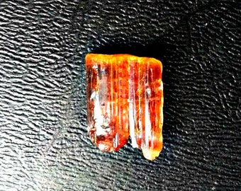 8ct Double Terminated Brazilian Bicolor Cherry Cola Tourmaline Crystal. Mined in Brazil