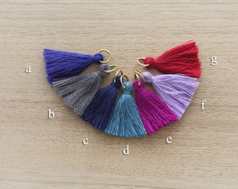 2 pcs of Mini Tassels DIY Craft Supplies Jewelry tassels Chunky tassel Short Boho tassels Small tassels Fringe Trim  - 30 mm