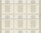 Wedding Table Plan / Seating Chart - Bespoke Perfect Place Venue Sketch