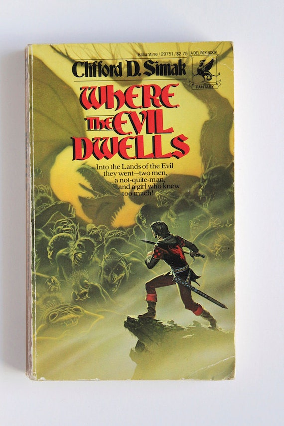 Book Cover Art Etsy ~ Items similar to clifford d simak where the evil dwells