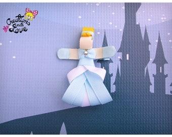 Cinderella Ribbon Sculpture Hair Clip. Princess Cinderella Hair Clip