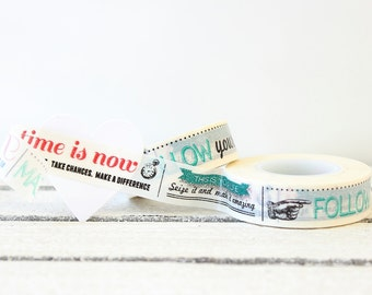 Washi Tape, Inspirational Washi Tape, Paper Tape, Planner Tape, Gift Wrap, Craft Tape, Embellishment, Japanese Tape, Planner Decoration