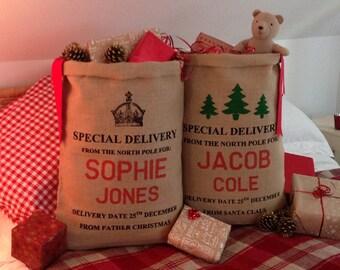 Personalized Christmas Stocking - Christmas Sack - Christmas Bag