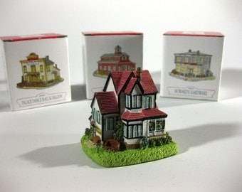 SALE - Vintage Liberty Falls Collection ~ Set of Four Village Pieces ~ International Resourcing Services, Inc.