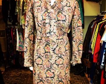 Vintage Paisley Dress