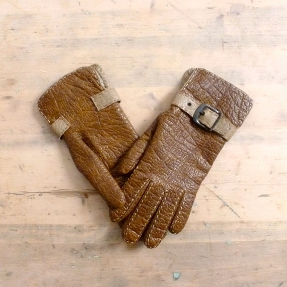 60 S Driving Gloves Vinyl Vintage Womens Gloves Vegan