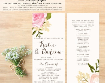 Printable Wedding Program - the Collette Collection