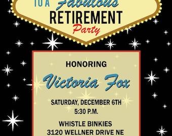 Las Vegas Retirement Invitation