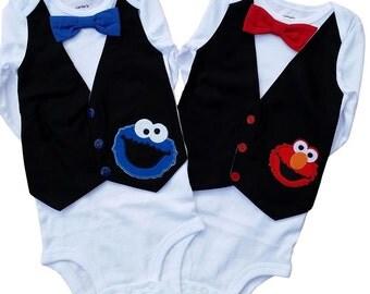 Elmo and Cookie Monster  - Buy One or Both [VEECM]