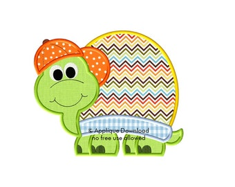 Cute Boy Turtle - 3 sizes - Instant EMAIL With Download - for Embroidery Machines