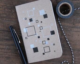 Squares Memo Book   Letterpress Mini Notebook