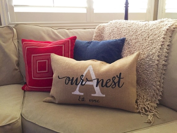 Our Nest Custom Farmhouse Shabby Chic Pillow Cover 100%