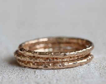 14k gold stacking rings solid 14k gold stacking rings | stacking wedding rings | pink gold | white gold | yellow gold