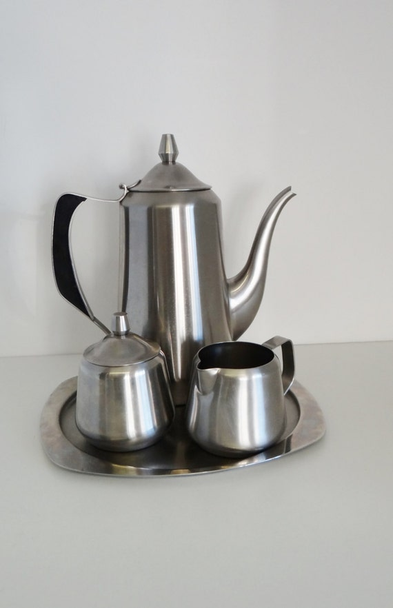 Vintage Coffee Set Oneida 1950 1960s Mid Century Coffee Pot