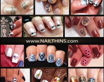 Nail Decals sale NAILTHINS Nail Designs Nail Wrap
