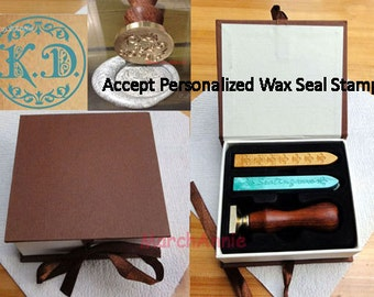 Personalized Wax Seal Stamp - Calligraphic alphabet wax stamp - Wedding gift
