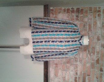 Vintage Striped Blouse by Jonquil Size 8