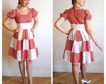 ON SALE * Swing Your Partner Dress * 1960s vintage rockabilly dress * Size 2 - 4