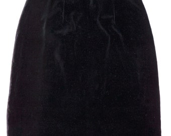 1960s Velvet Skirt Sz 6 Vintage Retero