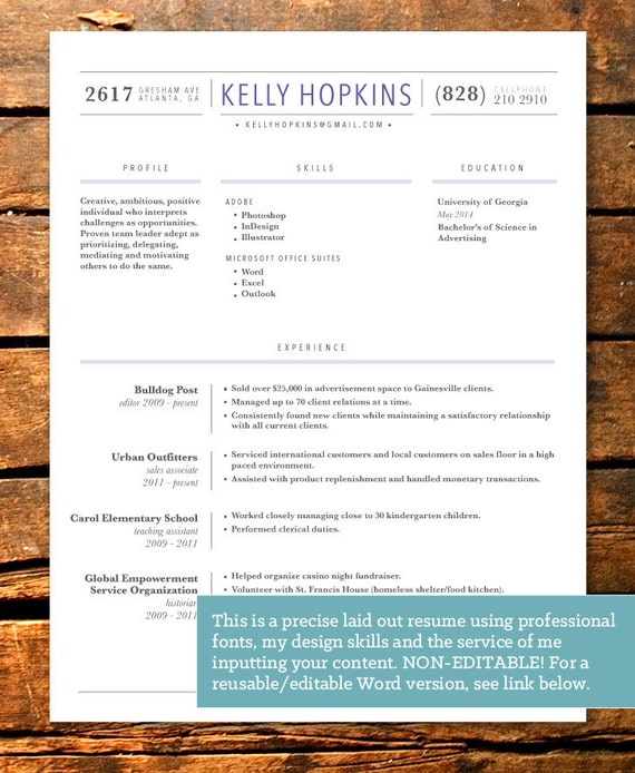 items similar to professionally designed line work resume