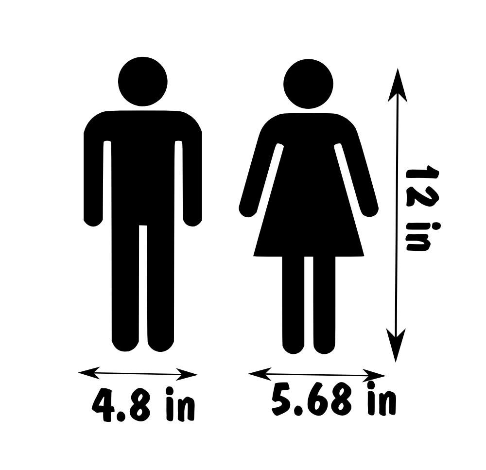 Unisex Bathroom Sign Unitoilet Washroom Restroom Door Sign Ladies And Gentleman