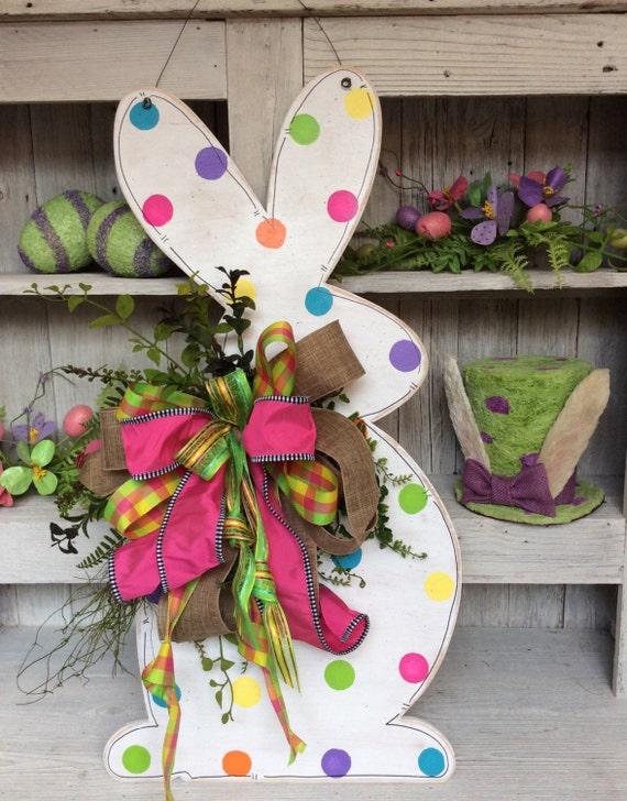 Easter Bunny Wreath Bunny Door Decor Bunny Door Easter