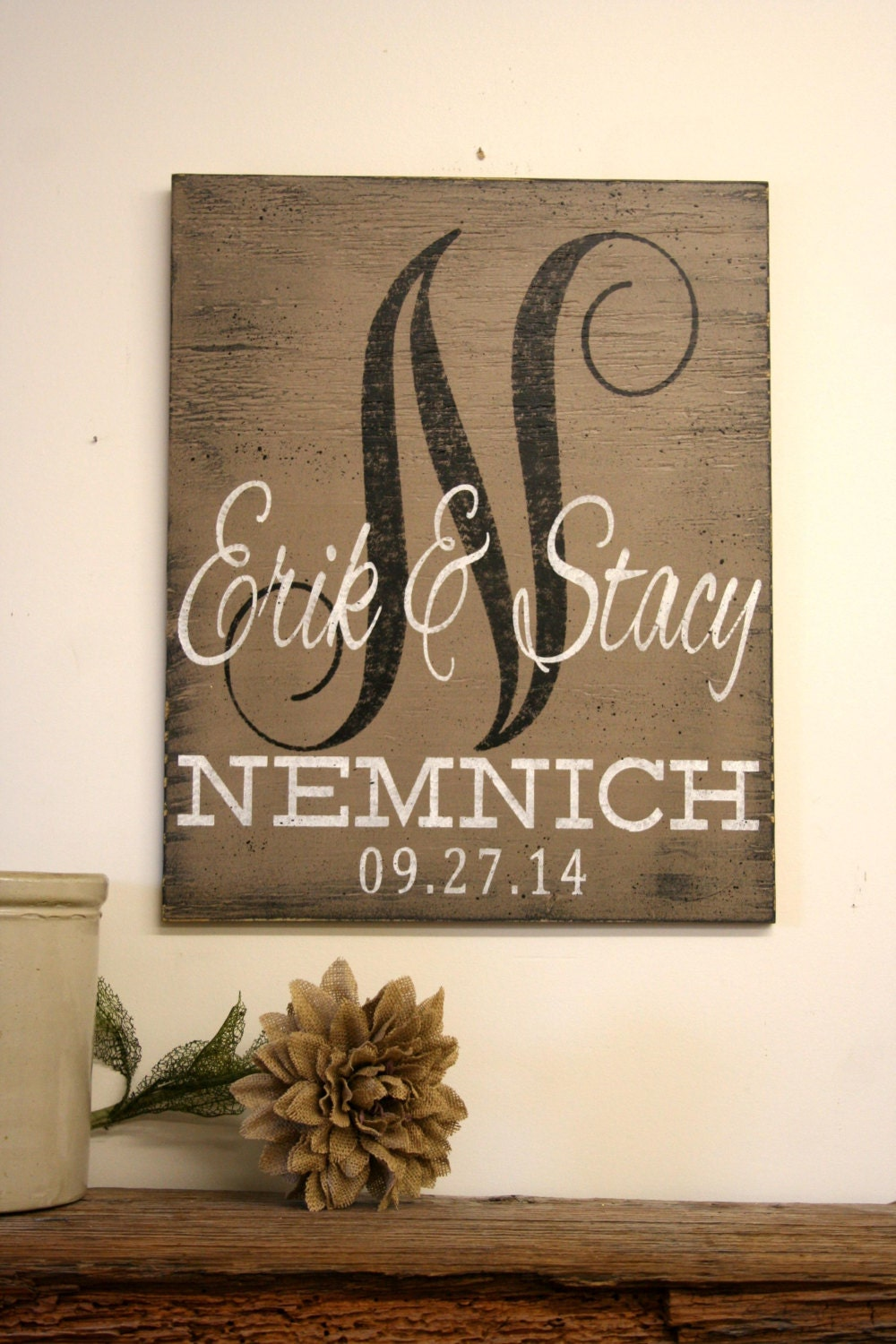 sign personalized custom wood wedding gift monogram housewarming signs shower gifts primitive distressed wooden tree plywood background