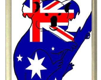 Australian Flag Koala Fridge Magnet 7cm by 4.5cm,