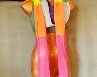 Festival Scarf,Shawl, Wrap top Chakra Colors