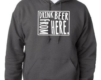 Craft Beer Hoodie- Wyoming- WY- Drink Beer From Here