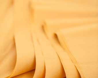 Mustard Tissue Paper 24 Sheets   Bulk Tissue Paper in Harvest Gold or Dark Yellow Mustard