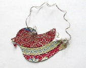 Metal Bird - Bird Ornament - Red Bird - Recycled Metal Ornament - Eco Friendly Ornament