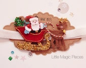 Santa's Sleigh with Rudolph Reindeer Headband - Christmas Collection