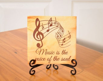Inspirational Music tile with stand